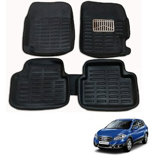 Auto Addict Car 3D Mats Foot mat Black Color for Maruti Suzuki S Cross