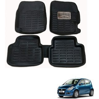 Auto Addict Car 3D Mats Foot mat Black Color for Maruti Suzuki Ritz