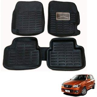 Auto Addict Car 3D Mats Foot mat Black Color for Maruti Suzuki Alto K10