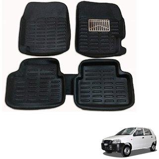 Auto Addict Car 3D Mats Foot mat Black Color for Maruti Suzuki Alto