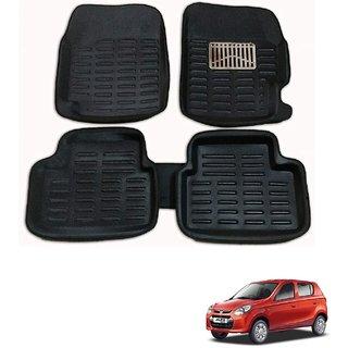 Auto Addict Car 3D Mats Foot mat Black Color for Maruti Suzuki Alto 800