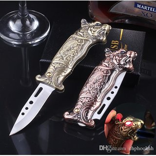 Pocket Knife Tiger Cigatette Lighter