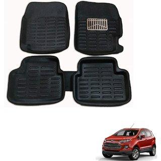 Auto Addict Car 3D Mats Foot mat Black Color for Ford EcoSport
