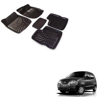 Auto Addict Car 3D Mats Foot mat Black Color for Hyundai Santro Xing