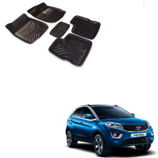Auto Addict Car 3D Mats Foot mat Black Color for Tata Nexon