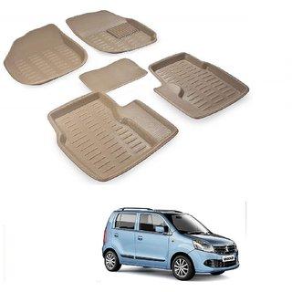 Auto Addict Car 3D Mats Foot mat Beige Color for Maruti Suzuki WagonR