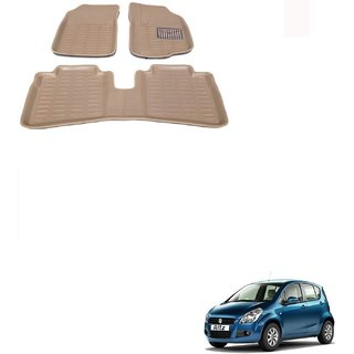 Auto Addict Car 3D Mats Foot mat Beige Color for Maruti Suzuki Ritz