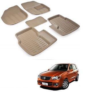Auto Addict Car 3D Mats Foot mat Beige Color for Maruti Suzuki Alto K10