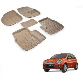 Auto Addict Car 3D Mats Foot mat Beige Color for Ford Figo