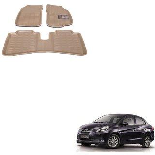 Auto Addict Car 3D Mats Foot mat Beige Color for Honda Amaze