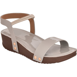 Do Bhai Grey Heels for women
