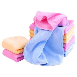 Stonic Very Soft Cotton Face Towels, Multicolour - Set of 6