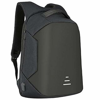 Whopper Anti Theft Bag with USB Port Laptop Backpack - Black