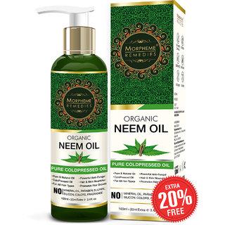 Morpheme Remedies Pure Organic Neem Oil (ColdPressed  Undiluted) 120ml