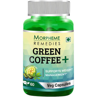 Morpheme Remedies Green Coffee+ (Garcinia + Green Coffee + Green Tea) 60 Veg Caps