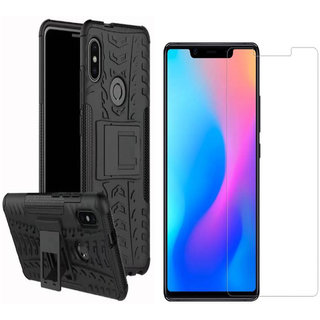 Redmi Note 6 Pro Tempered Glass With Tyre Defender Cover Combo Deal Standard Quality