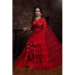 8e90c6f70740d Buy Designer Jamdani Saree With Blouse Piece Online - Get 57% Off
