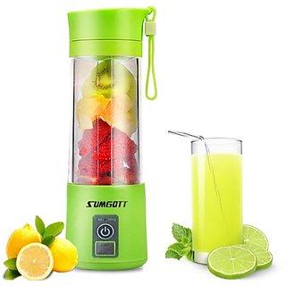 Portable Wireless Rechargeable Juice Cup Mini Automatic Fruit Smoothie Cider Device Electric Juicer Bottle - Randome Colour