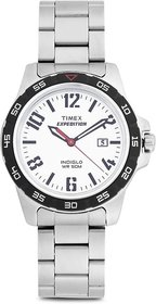 Timex Expedition Analog White Dial Men's Watch-T49924