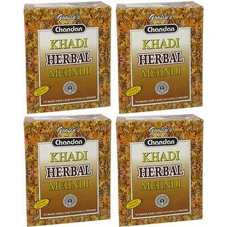 Khadi Herbal Brown Mehndi - 80g (Set of 4)