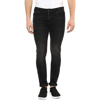 Mufti Black Stone Skinny Fit Stone Washed Effect Fashion Jeans