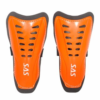 SAS Football Shin Guards Super Club for All Playing levels in Orange - Pack of 1 Standard size For Unisex