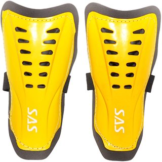 SAS Football Shin Guards Super Club for All Playing levels in Yellow - Pack of 1 Standard size For Unisex
