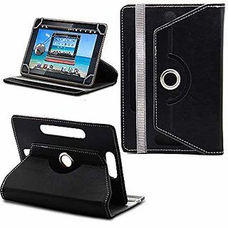 Flip Case Book Cover 360 Degree For 7-inch Tablet Universal (Black)