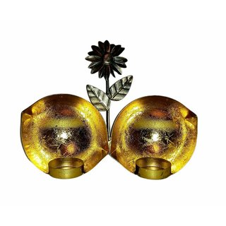 Decorative Eye Shaped Metal Wall Sconce with 2 Nos Tealight/Metal Wall Hanging Tealight Candle Holder Decorative Candle