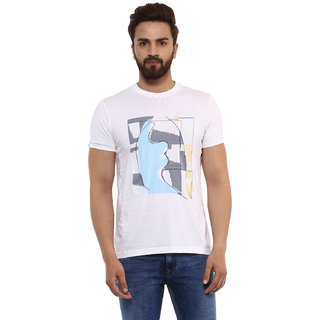 d9986d7dddf6 Buy Mufti Men s White Round Neck T-shirts Online - Get 50% Off