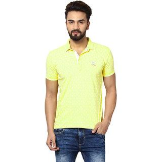 Mufti Yellow Half Sleeves T-Shirt