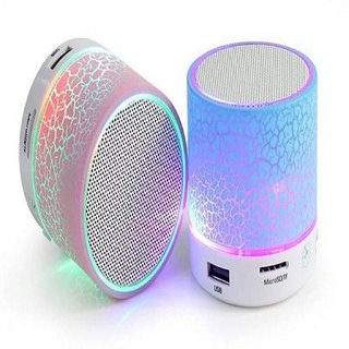 Acrowin Bluetooth Speaker LED Compatible with Memory Card/Pen Drive Slot for all Device(Multi-Color)