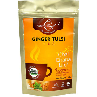 nature Chai Ginger Tulsi Tea Pack of 2 (100 gm each)