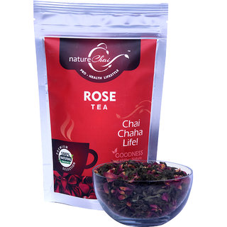 Nature Chai Rose Green Tea Pack Of 3 (50 Gm Each)