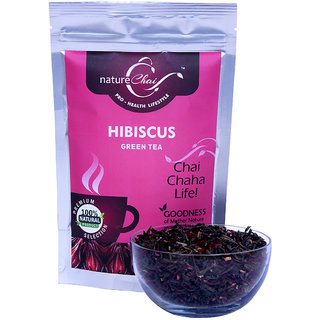 Nature Chai Hibiscus Green Tea Pack Of 1 (50 Gm Each)
