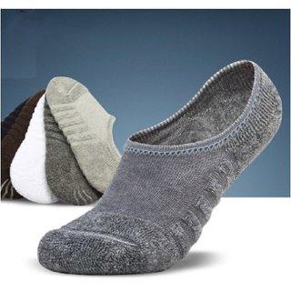 Galatea Men's Multicolor Cotton Loafer Socks Set of 2