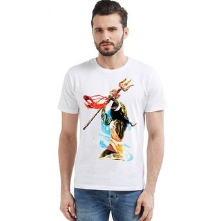 6a099bf83 Buy Canis Bhairava Shiva Classic Round Neck White Casual Trendy Printed T- Shirt Online - Get 58% Off