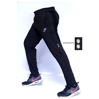 Nike Black Lycra Running Trackpant For Men