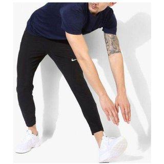 Nike Black Polyester Lycra Jogger Track pant