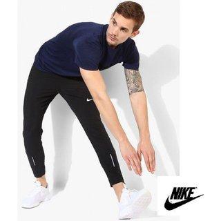 Nike Black Threma Flex Track Pants For Men