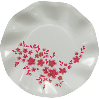 DevEuro 7 inch flower printed Biodegradable paper plate