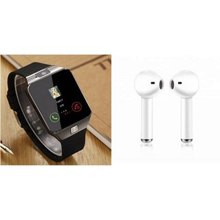 Buy Style Maniac Dz09 With Smart Mobile Watch With Sim Fitness Tracker 32gb Twins Wireless Earbuds Bluetooth Headset Wi Online Get 58 Off
