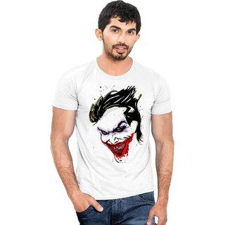 Canis Horrible Smiling Joker  |Trendy| Round / Crew Neck Men's White Printed T-Shirt