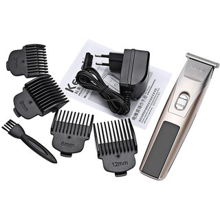 Kemei KM-2158 Rechargeable Hair Trimmer With 4 Adjustable Limit Combs(3mm/6mm/9mm/12mm) Shaver Razor Cordless Adjustable