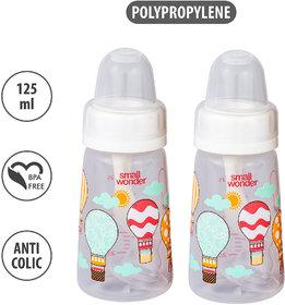 Small Wonder Feeding Bottle 125mlPPNatural BottleWhitePack of 2
