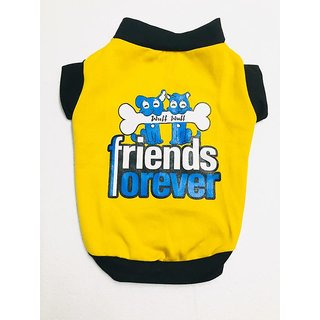 Wuff Wuff Dog T Shirt Friends Forever Size-08