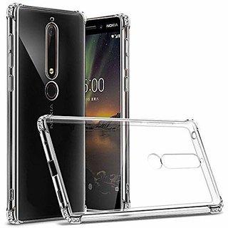 ECellStreet Nokia 6.1 Plus Back Case Cover  Flexible Shockproof TPU - Transparent