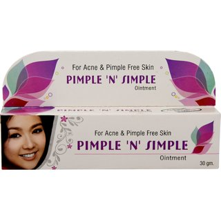 Afflatus Pimple 'N' Simple 100 Ayurvedic Cream 30 GM for Acne and Pimples