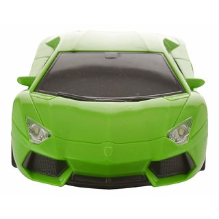 Remote Control Car with Steering Wheel Remote, Green 118 Scale