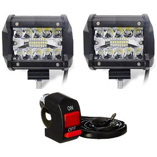 dec5cb0f0cd Buy Autosky 60W 18LED Driving Fog Light CREE Waterproof Light for Bike Cars  and Motorcycle White Light Set of 2 with Switch Online - Get 45% Off
